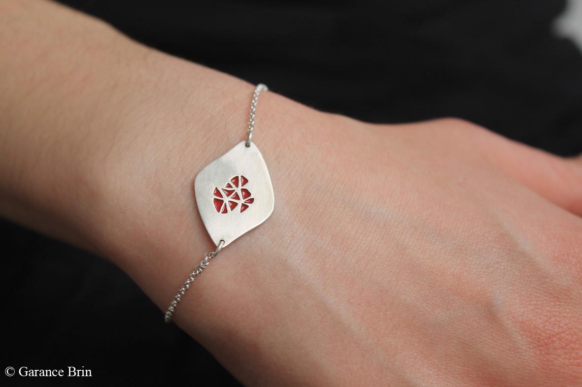 Bracelet toile d'émail de la créatrice de bijoux Garance BRIN