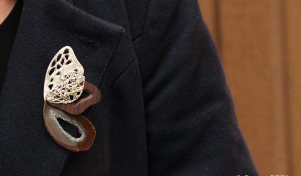 Broche cheminement Bijoux contemporains argent Garance BRIN Pièce unique