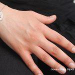Bracelet toile émail 1 rouge - argent et émail Garance BRIN Bijoux contemporains