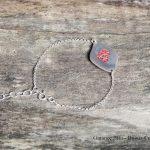 Bracelet d'émail rouge - argent et émail Garance BRIN Bijoux contemporains